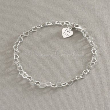 Tiny Hearts Engraveable Memorial Bracelet | Someone Remembered